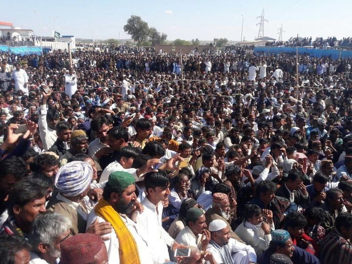 A massive protest against the Gorrano Dam on January 26 2017 in Islamkot, Tharparkar.