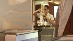Flight Attendant Spotted Pouring Champagne Back Into A