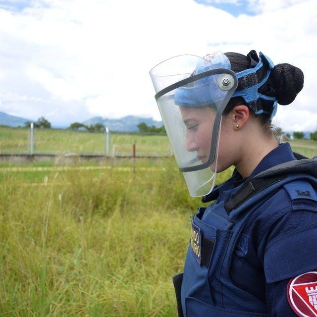 Alejandra Segura is one of eight women deminers in Colombia