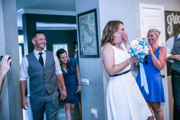 Surprise! The wedding is<i>