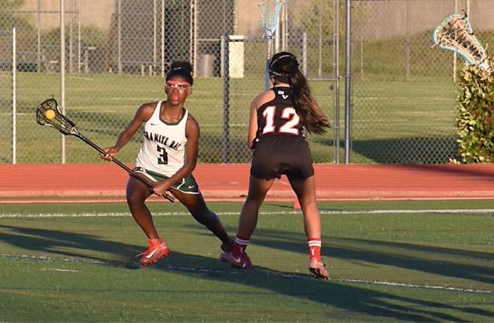 Avonna Usher, left, plays lacrosse for the Granite Bay High School team.