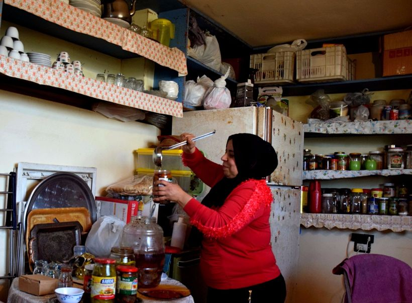 A refugee in Lebanon used a loan from Kiva.org to start a cooking business.
