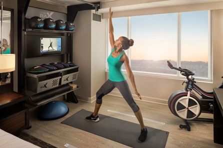 Five Feet to Fitness - a mini gym in your hotel room