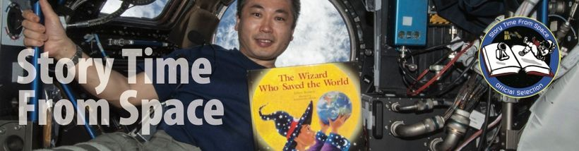 "Japanese astronaut Koichi Wakata reads <a rel=""nofollow"" href=""http://www.bigkidscience.com/books/the-wizard-who-saved-the-wo"