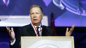 NEW YORK, NY - MAY 13:  Ohio Governor, John Kasich attends 2017 Ellis Island Medals of Honor Ceremony at Ellis Island on May 13, 2017 in New York City.  (Photo by John Lamparski/Getty Images)