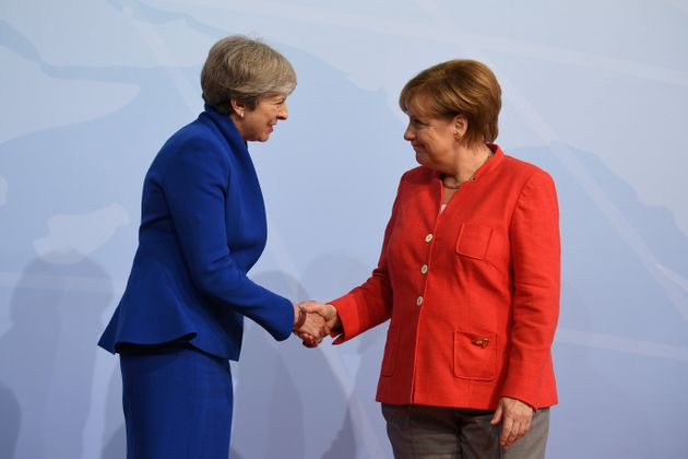 Merkel and May meeting earlier this month at the G20