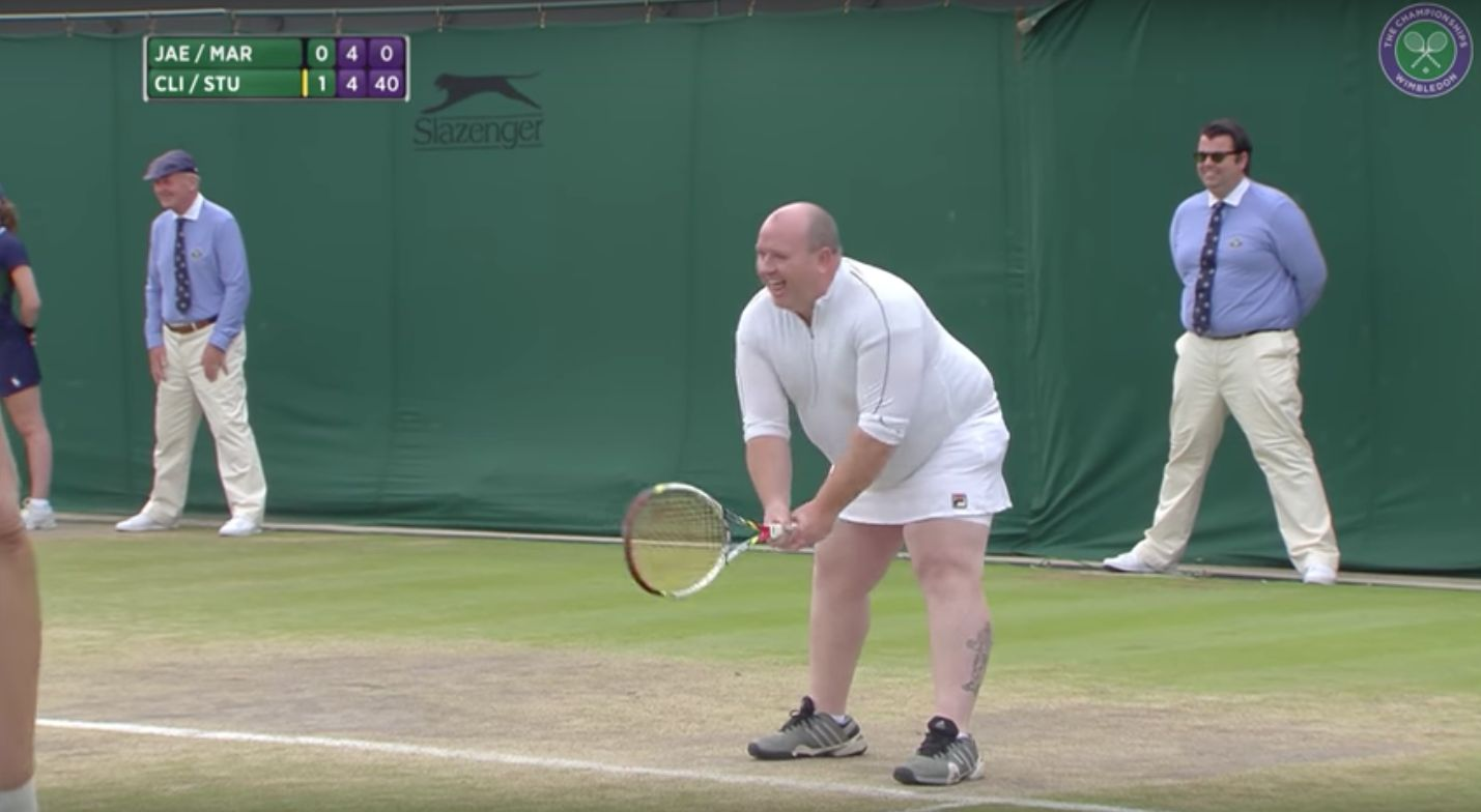 Male Tennis Fan Dons Skirt To Play Wimbledon Women After Shouting