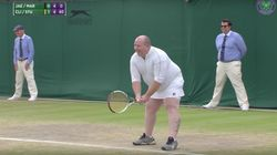 Male Tennis Fan Dons Skirt To Play Wimbledon After Shouting Advice From The