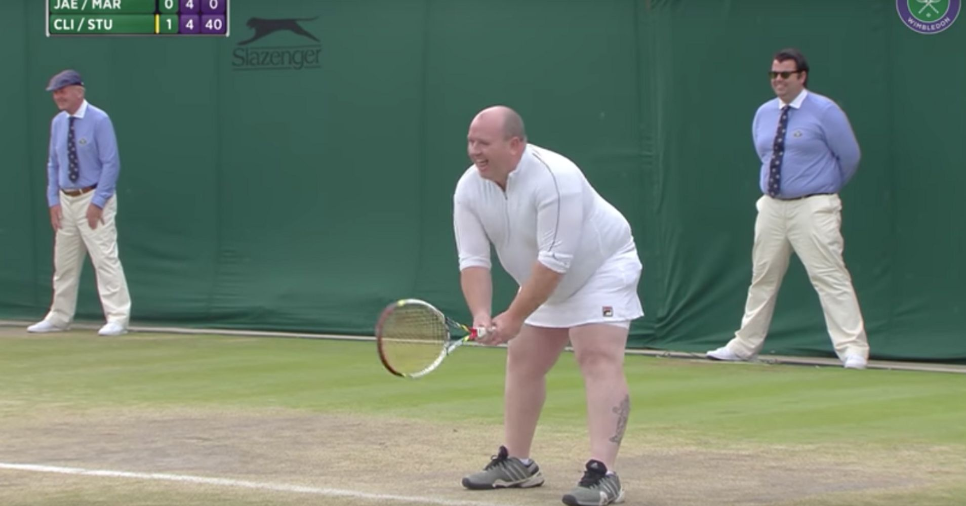 Male Tennis Fan Dons Skirt To Play Wimbledon Women After Shouting Advice   Huffpost