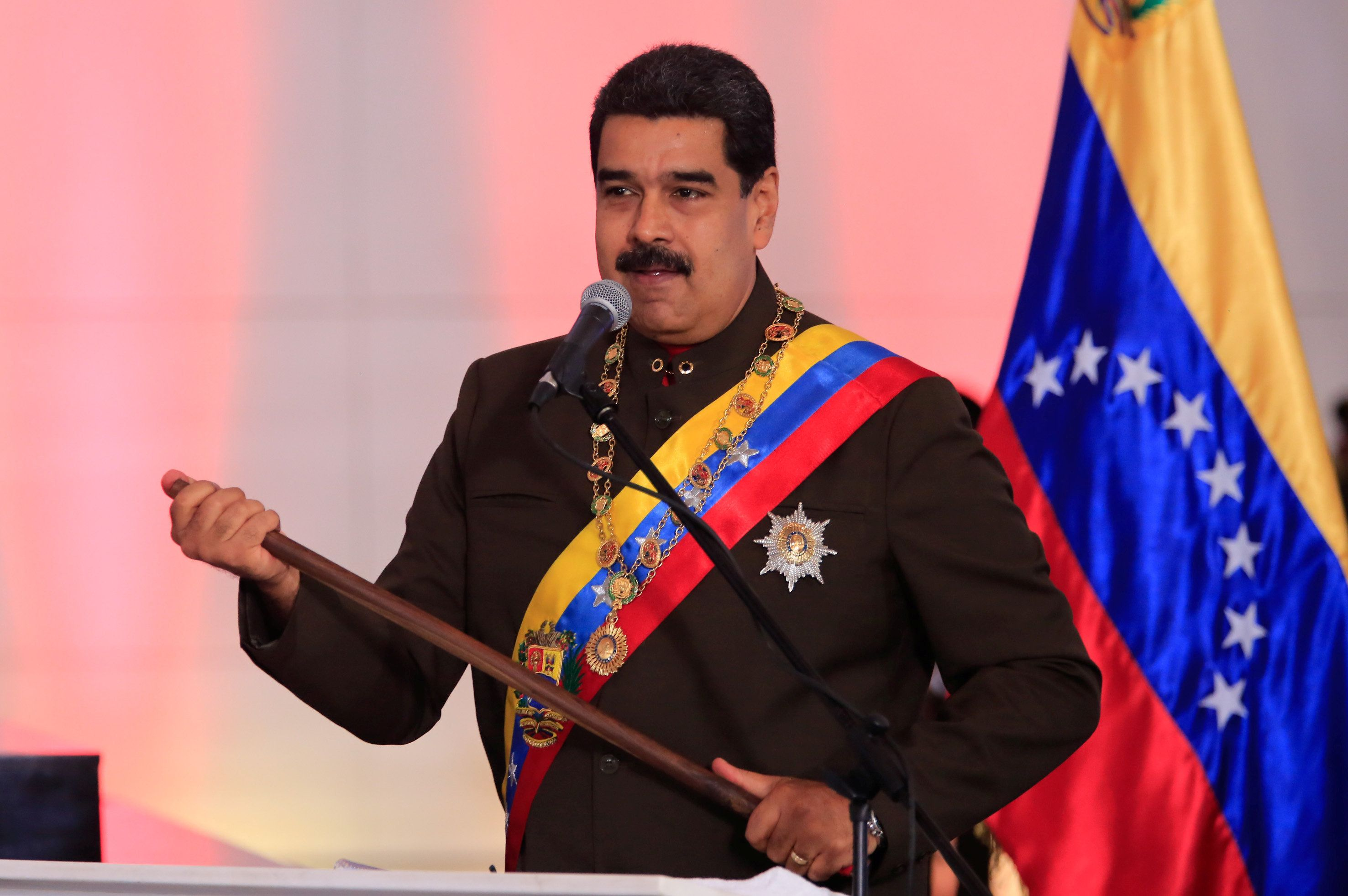 Handout.  Reuters Venezuela's President Nicolas Maduro speaks during a ceremony at the National Pantheon in Caracas