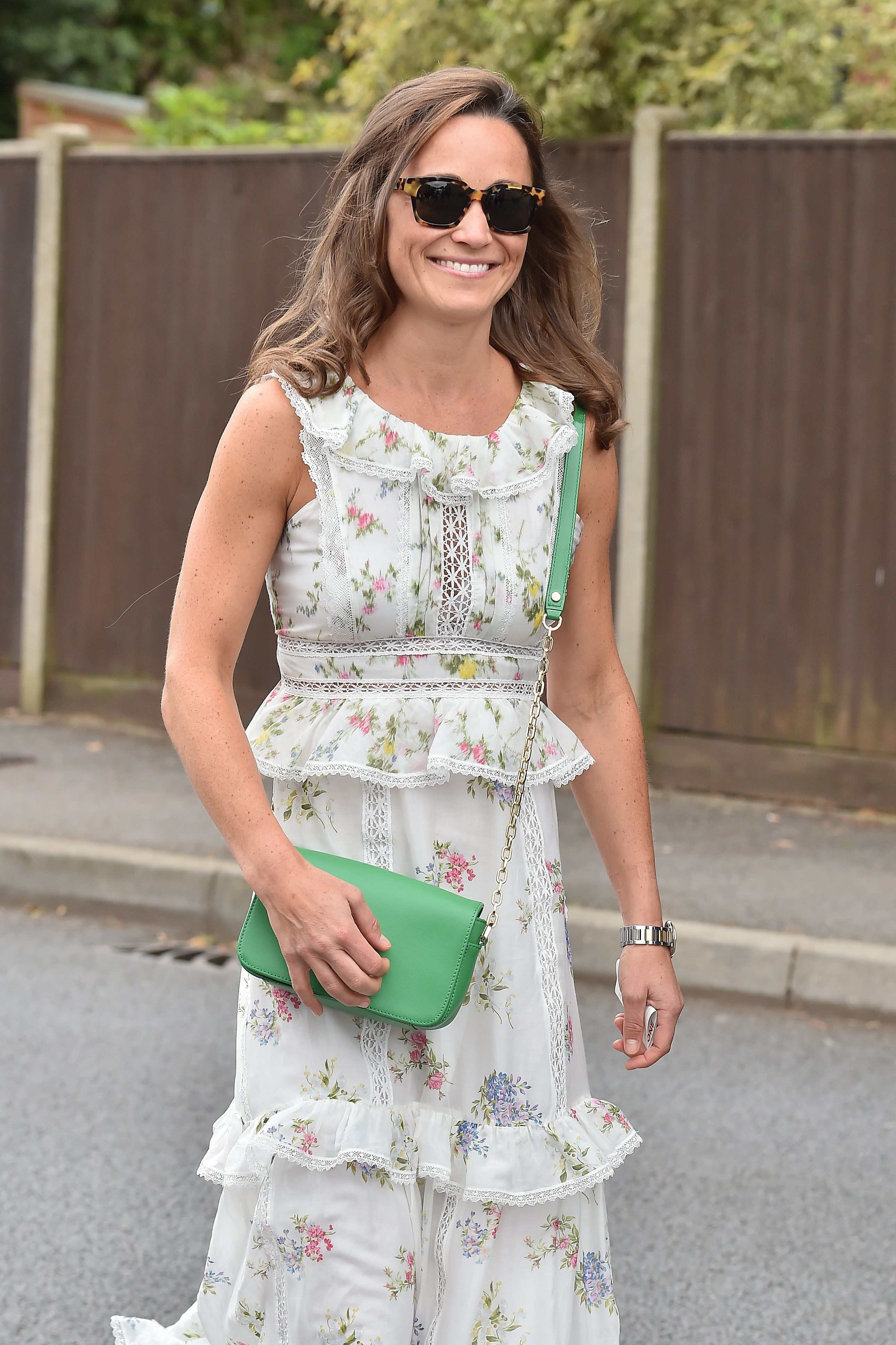 Pippa Middleton Looks Lovely In A Tiered Floral Dress For The Final Day Of