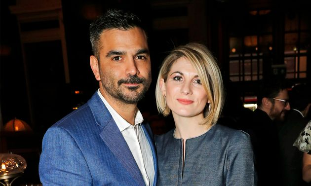 Christian Contreras and Jodie Whittaker in London earlier this