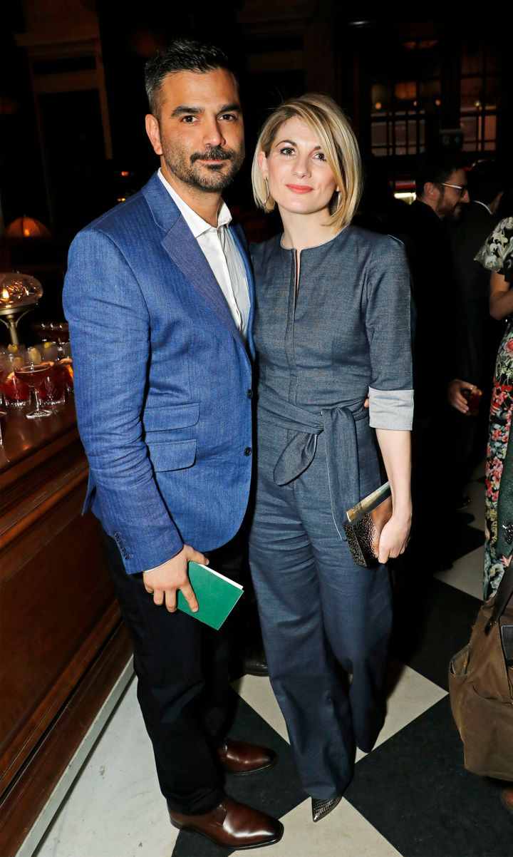 Christian Contreras and Jodie Whittaker in London earlier this year.