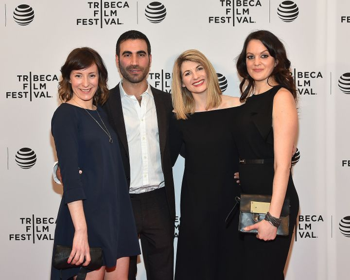 Jodie Whittaker (second from right) with
