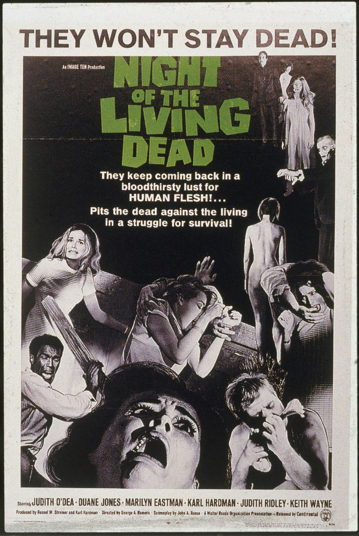 "A movie posted for ""Night of the Living Dead."""