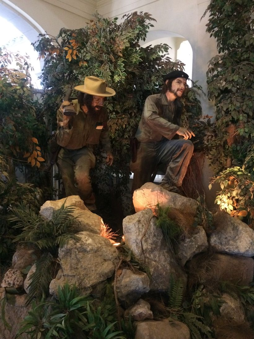 Cienfuegos and Ché, out of the woods and hasta la victoria, forever.  Display located in the Museum of the Revolution.