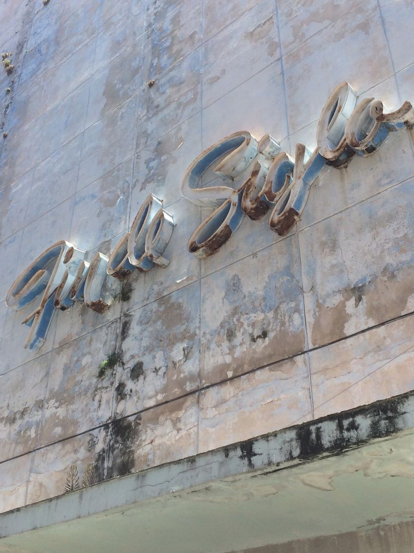One of the many old signs of Havana, nostalgia for an era that never was.