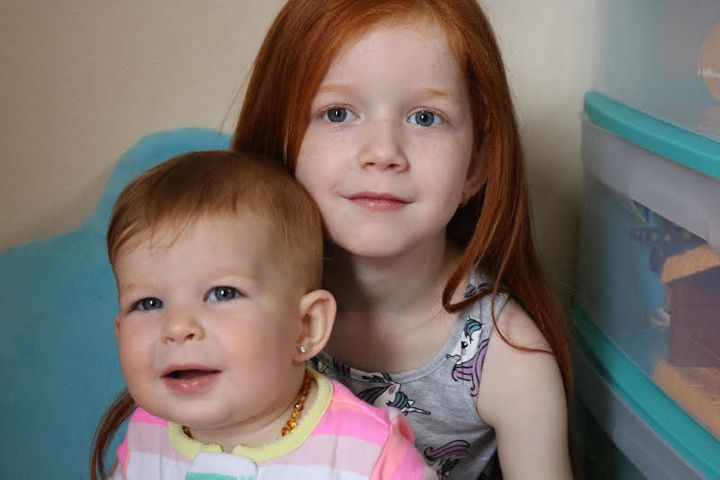 Riley (one) and Emily (five).