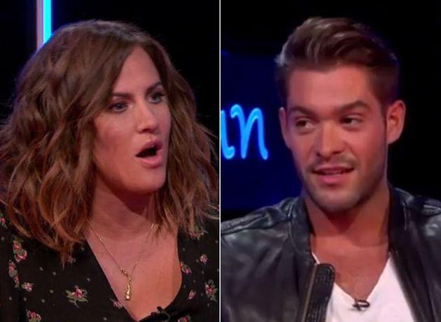 Caroline Flack gave Jonny Mitchell both barrels on 'Love Island: