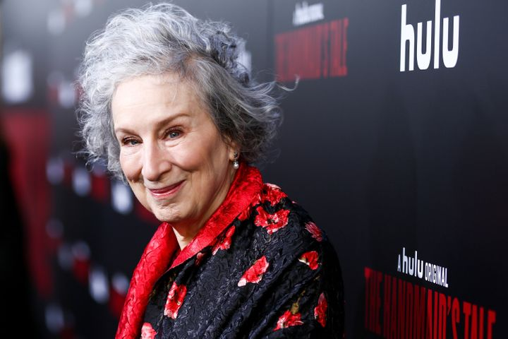 Margaret Atwood, author of the&nbsp;<i>Handmaid's Tale,&nbsp;</i>arrives at the book's television&nbsp;adaptation in April.&n