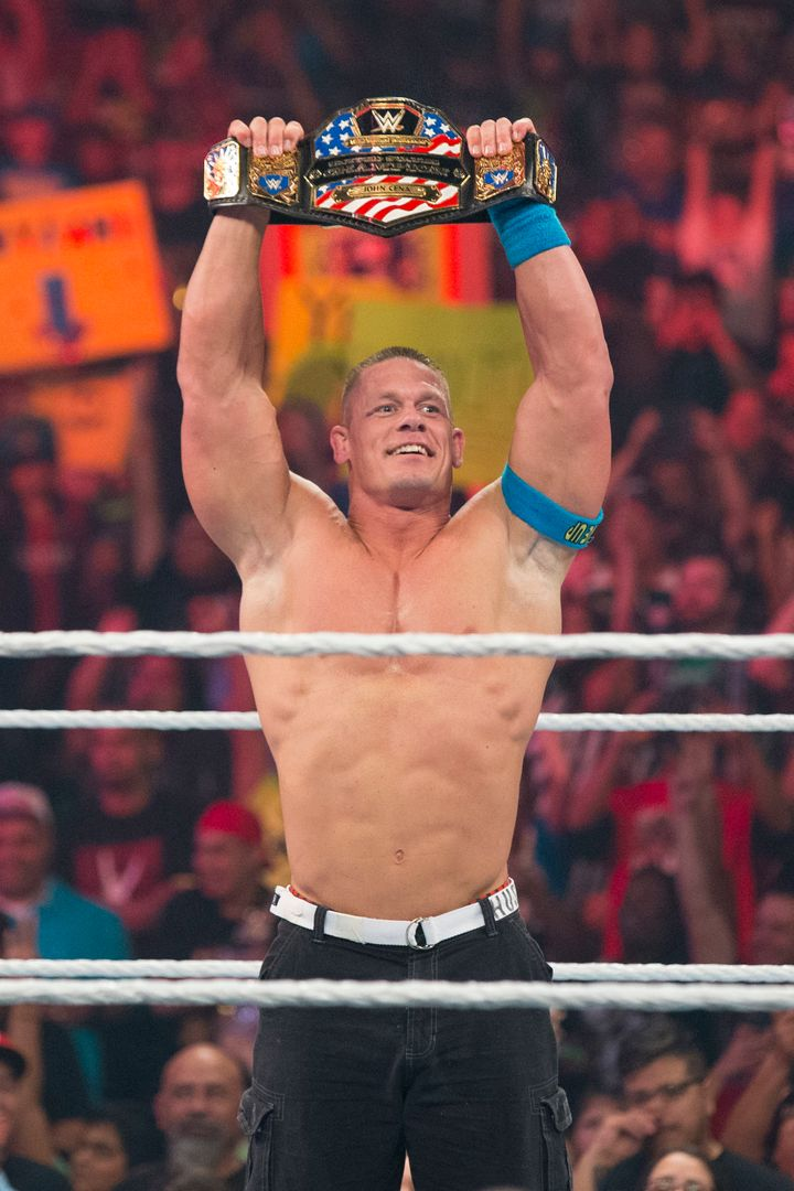 """I have a lot of surface area to cover,"" Cena said of his shaving habits."