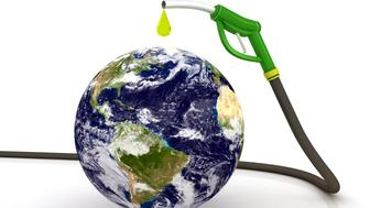 Petrol stock conceptEarth globe image provided by NASAhttp://visibleearth.nasa.gov/