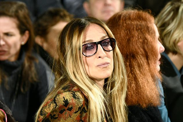 Sarah Jessica Parker at the Calvin Klein Collection Autumn Winter 2017-2018 fashion show during New York...