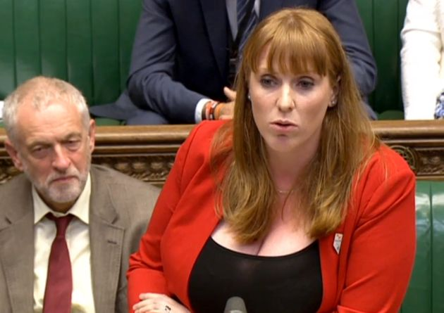 Labour's Angela Rayner said the government's announcement was 'a sticking