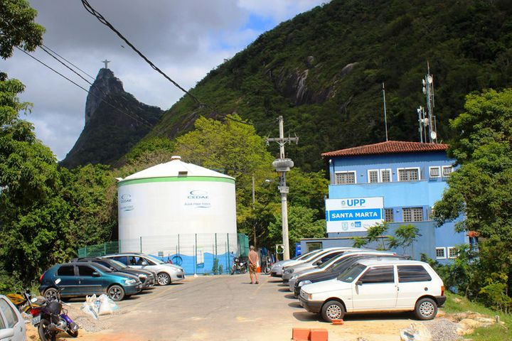 A Police Pacification Unit in Santa Marta favela in Rio de Janeiro, in 2013.