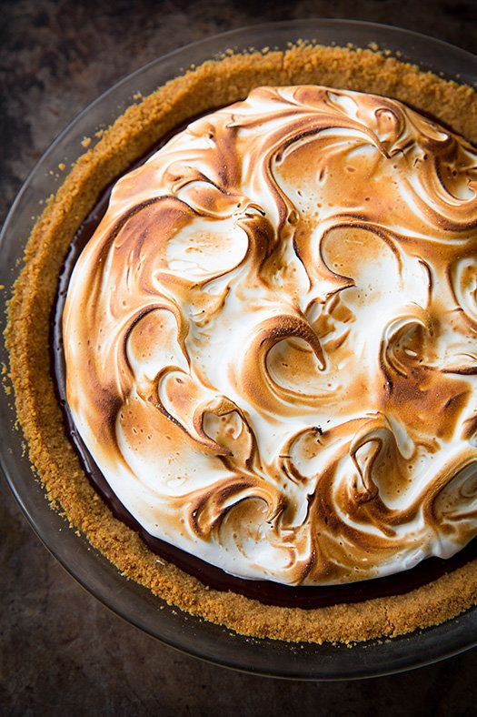"""<strong>Get the <a href=""""http://www.cookingclassy.com/smores-pie/"""" target=""""_blank"""">S'mores Pie recipe</a>from Cooking C"""