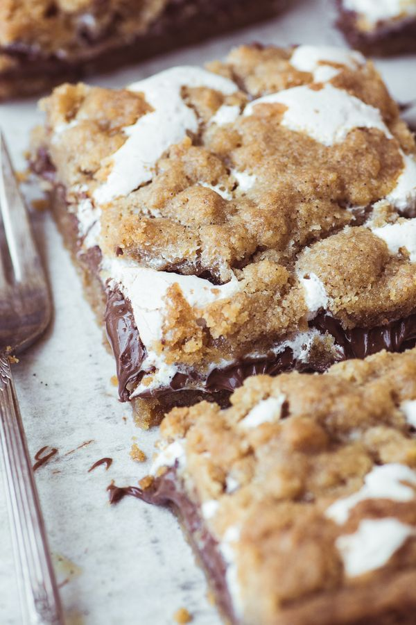 """<strong>Get the <a href=""""https://theviewfromgreatisland.com/nutella-smores-bars/"""" target=""""_blank"""">Nutella S'mores Bars recipe"""