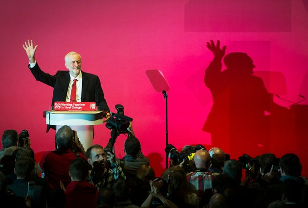 Jeremy Corbyn at the 2016 Labour conference in
