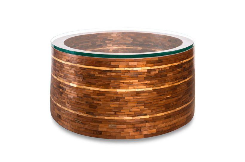 Mosaic Wood Coffee Table