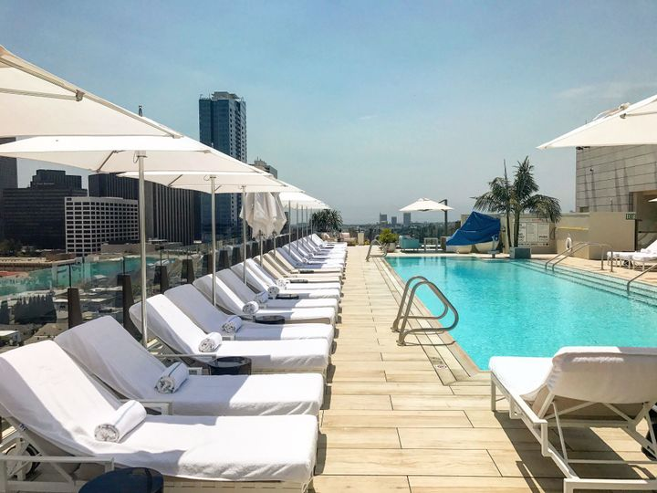 <p>Rooftop Pool at the Waldorf Astoria Beverly Hills.</p>