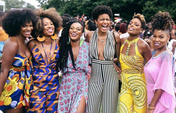 Curly Girl Collective cofounders with Ebonee Davis.