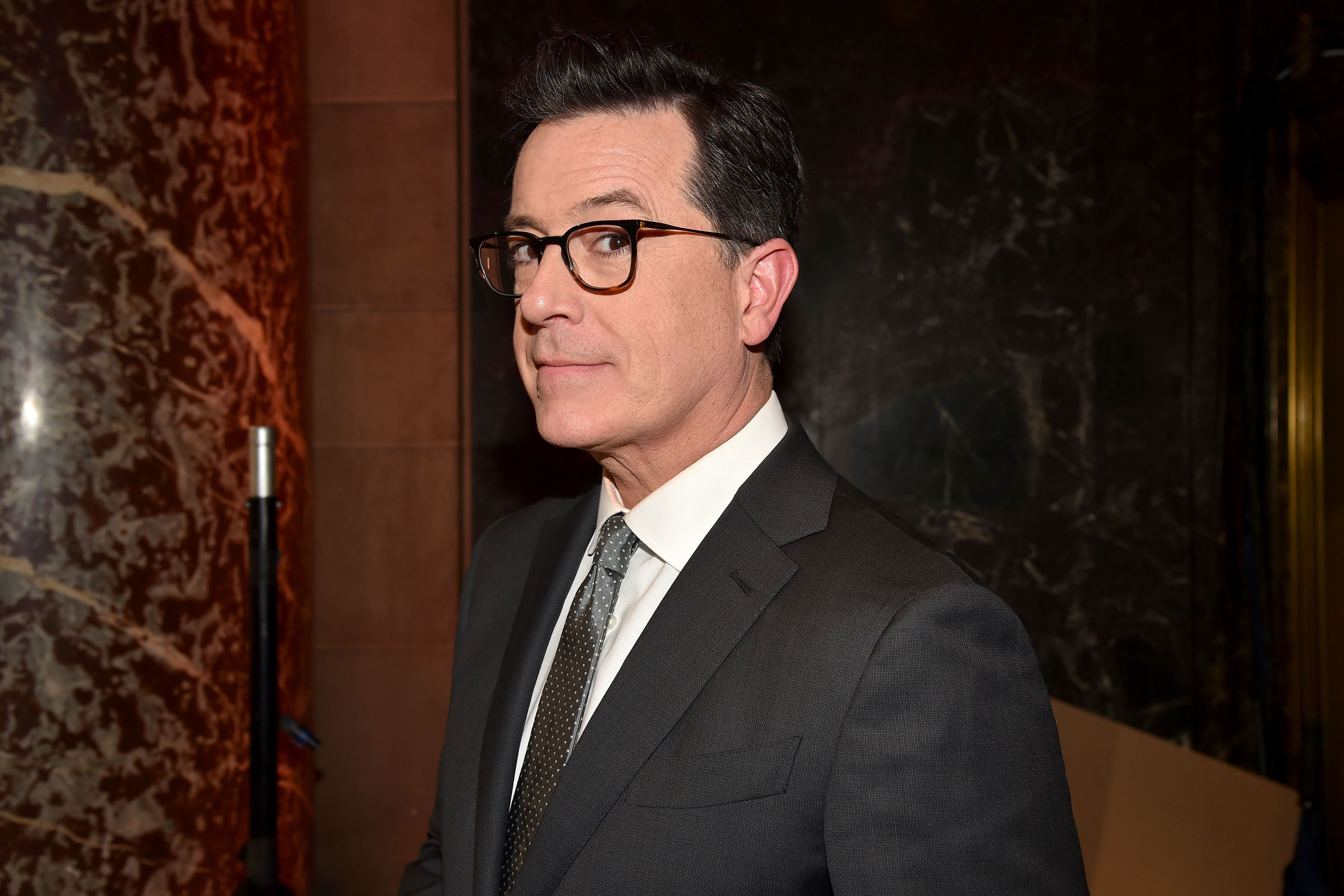 NEW YORK, NY - JUNE 06: Stephen Colbert attends the Gordon Parks Foundation Awards Dinner & Auction at Cipriani 42nd Street on June 6, 2017 in New York City. (Photo by Patrick McMullan/Patrick McMullan via Getty Images)