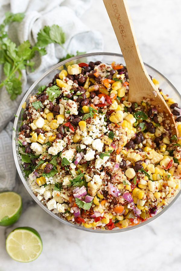 "<strong>Get the <a href=""http://www.foodiecrush.com/southwest-quinoa-and-grilled-corn-salad/"" target=""_blank"">Southwest Quino"