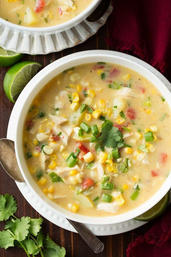 "<strong>Get the <a href=""http://www.cookingclassy.com/coconut-chicken-corn-chowder/"" target=""_blank"">Coconut Chicken Corn Cho"