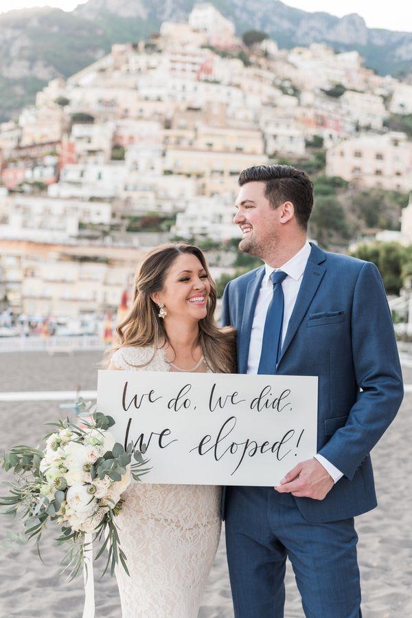 19 creative elopement announcements you u0026 39 ll want to copy
