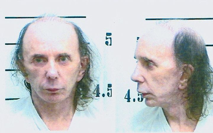 Spector in his mugshot photo on June 5, 2009, after being found guilty of murdering Lana Clarkson.