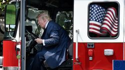 Trump Plays In A Firetruck, And The Photos Don't