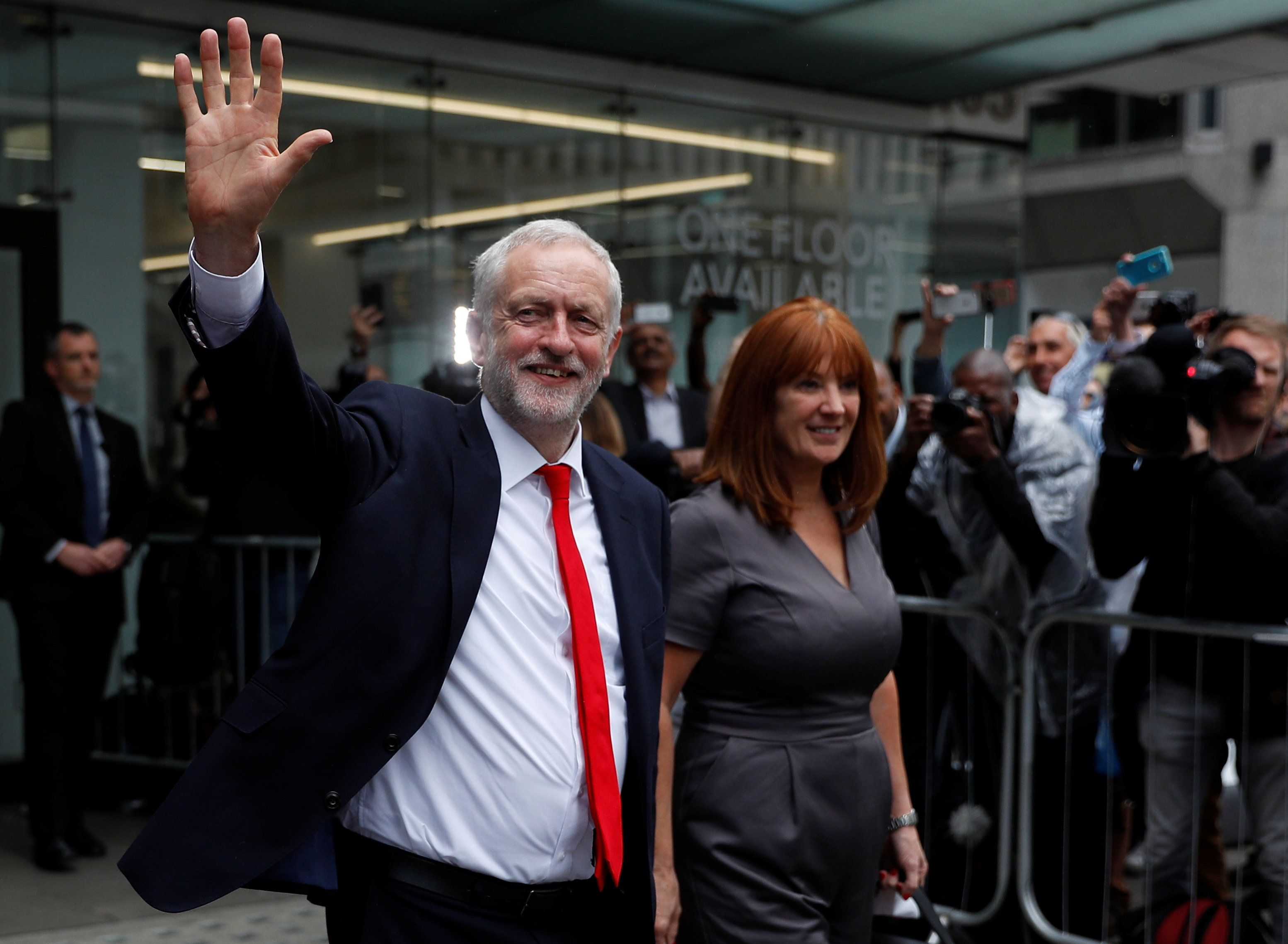 Jeremy Corbyn, leader of Britain's opposition Labour Party, leaves party's headquarters on the morning after Britain's election in London, Britain June 9, 2017.  REUTERS/Peter Nicholls