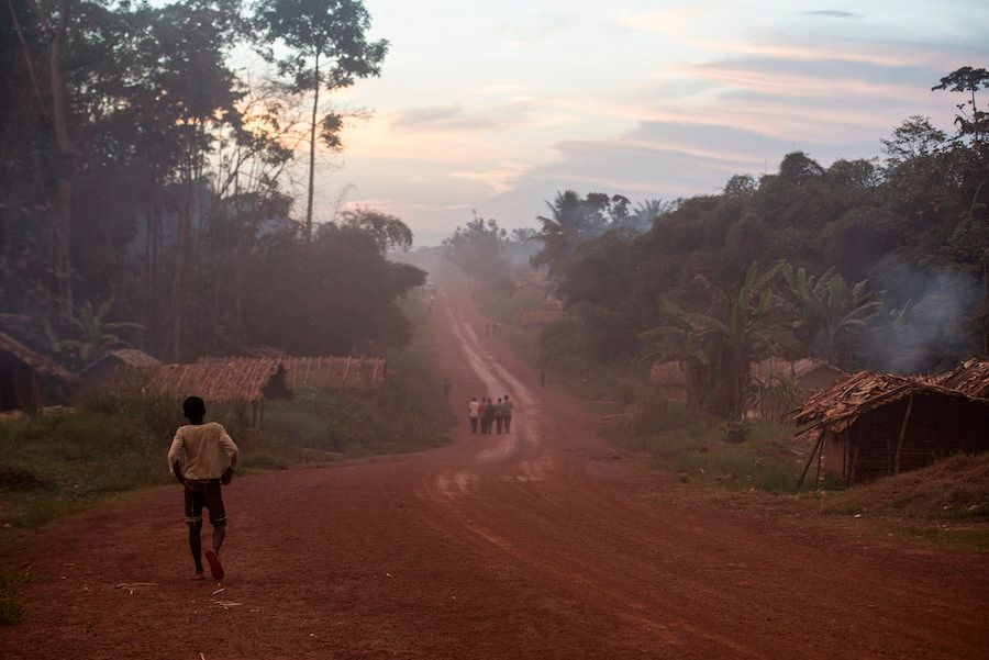 The village of Salambongo, population 1,000, has many of the black flies that can cause river