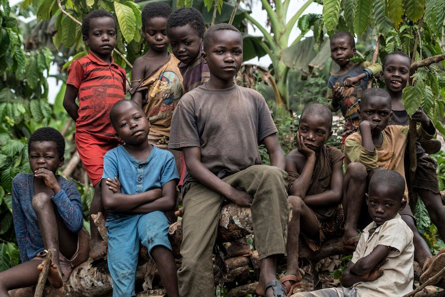 Kids in the village of