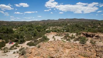 A view of what would be the site of a future block cave mine at the Oak Flat Campground in the Tonto National Forest near Superior, Arizona May 30, 2015. Considered a home to the San Carlos Apache tribe, the site is slated for development into a copper mine by Rio Tinto. REUTERS/Deanna Dent