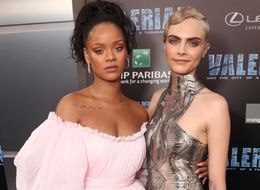 Rihanna Rocks Millennial Pink And Cara Delevingne Shines In Silver At 'Valerian' Premiere