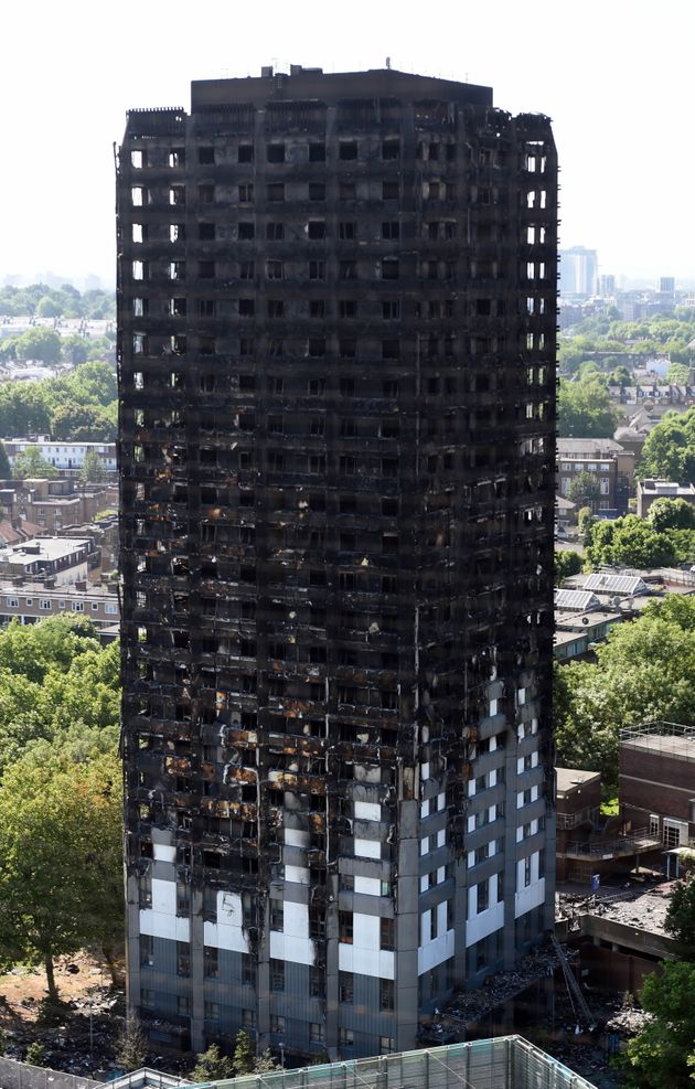 Grenfell Tower To Be Covered Up As Debris Continues To Fall From Charred