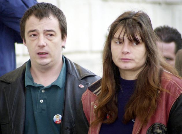 Sarah's parents Sara and Michael Payne (who has recently passed away) during the murder trial in