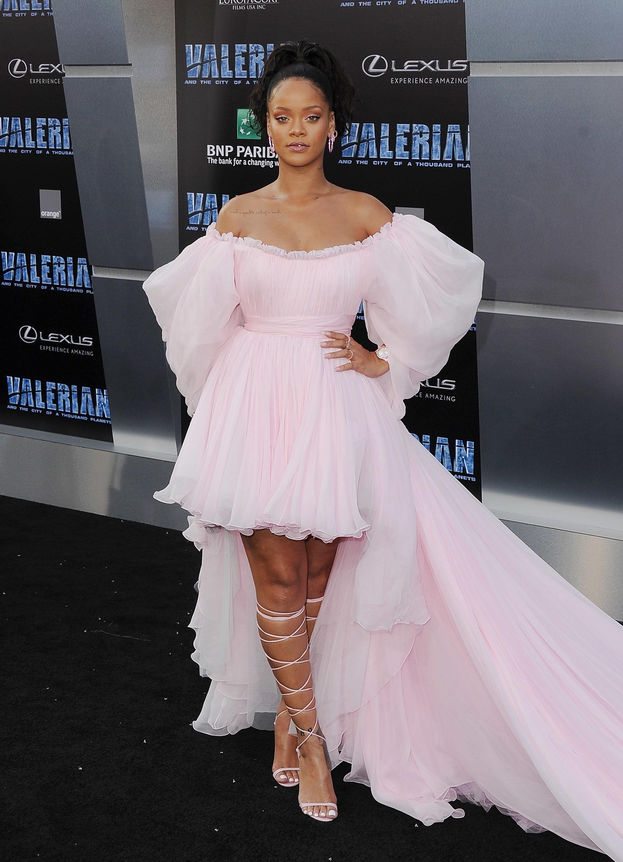 Rihanna Pink Dress