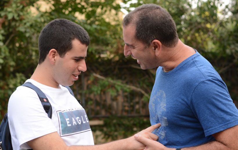 AngelSense Co-Founder and CEO Doron Somer and his son Itamar